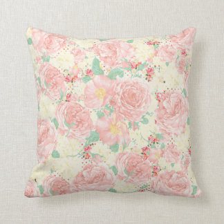 Blush Rose Throw Pillows : Blush Pink Floral Decorative Pillows Zazzle.ca