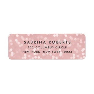 Blush Pink Bokeh Return Address