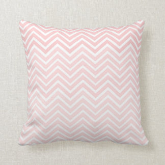 Blush Pink Chevron Pillow Ombré Square