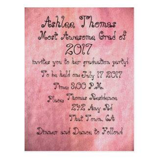 Blush Pink Custom Graduation Party Invitations