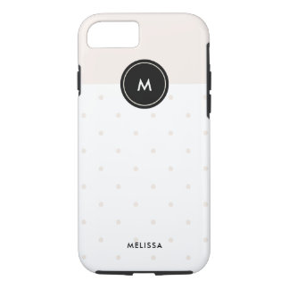 Blush Pink Dots with Black | Monogram iPhone 8/7 Case