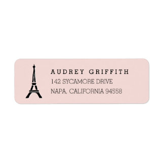 Blush Pink Eiffel Tower Return Address