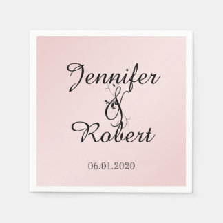 Blush Pink Elegance Wedding Napkin Paper Napkins