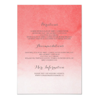 Blush Pink Elegant Wedding Details Card