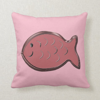 Blush Pink Fish Throw Pillow