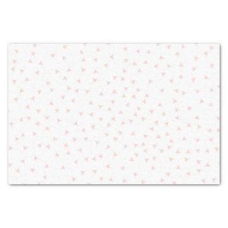 Blush Pink Geometric Triangle Confetti Pattern Tissue Paper