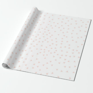 Blush Pink Geometric Triangle Confetti Pattern Wrapping Paper