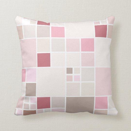 Blush Pink Girly Chic Mosaic Pattern Pillow