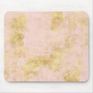 Blush Pink Gold Grunge Mouse Pad