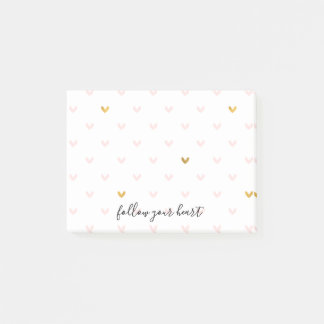 Blush Pink Gold Hearts Post-it Notes