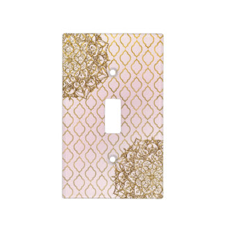 Blush Pink Gold Moroccan Arabian Glam Modern Light Switch Cover