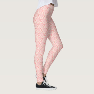 Blush pink Hugs and kisses Leggings