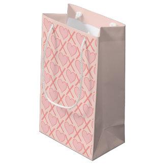 Blush pink Hugs and kisses Small Gift Bag