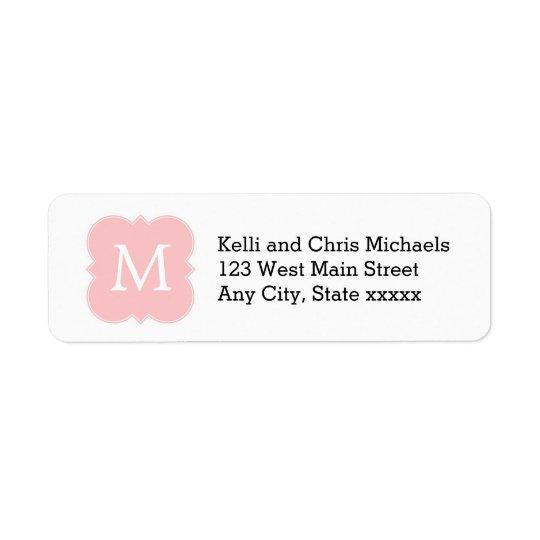Blush Pink Monogram Elegant Wedding