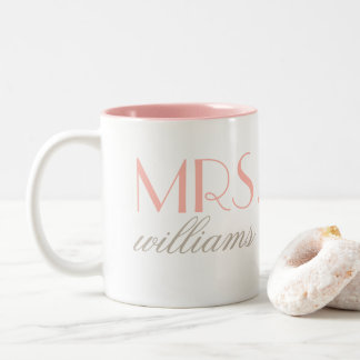 Blush Pink Mrs. Coffee Mug | Bride-to-Be Gift