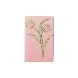 Blush Pink Ombre Tulips Moleskine Notebook