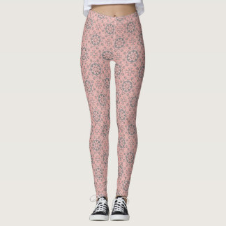 Blush Pink Pattern Leggings