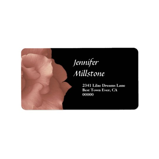 Blush Pink Rose Floral Wedding Collection Label