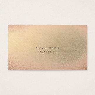 Blush Pink Rose Gold Champaign Minimal Skin Beauty Business Card