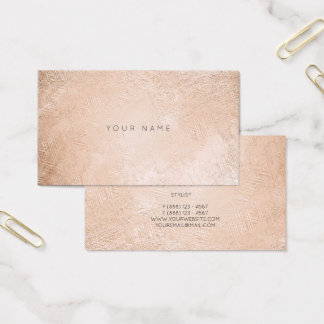 Blush Pink Rose Gold Minimal Appointment Card Vip