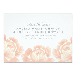 """Blush Pink Roses Wedding Save the Date 5"""" X 7"""" Invitation Card"""