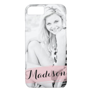 Blush Pink Watercolor Custom Photo Personalized iPhone 8/7 Case