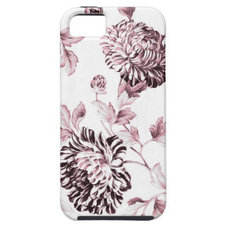 Blush Pink & White Botanical Floral Toile No.2 iPhone 5 Cases