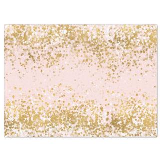 Blush Pink White Gold Confetti Sparkle Tissue Paper