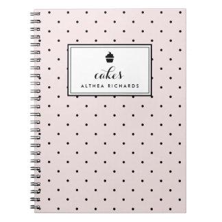 Blush Polka Dots | Baking Recipe Notebook