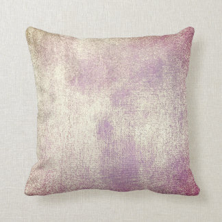 Blush Purple Gold Minimal Painting Pastel Blush Throw Pillow