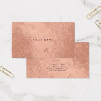 Blush Rose Copper Metallic Appointment Card Vip