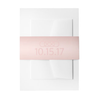 Blush Rose Gold Belly Band Invitation Belly Band