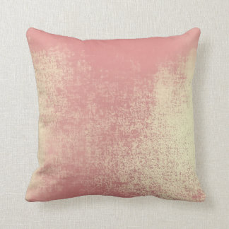 Blush Rose Gold Coral Ombre Abstract Minimal Paste Throw Pillow