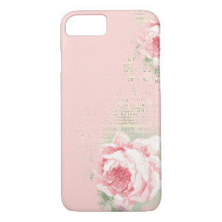 blush rose on old newspaper Case-Mate iPhone case