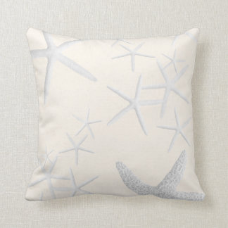 Blush Starfish Decorative Square Throw Pillow