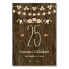 BLUSH STRING OF LIGHTS RUSTIC FALL TABLE NUMBER