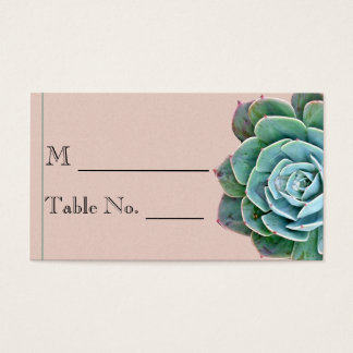 Blush Succulent Wedding Place Card