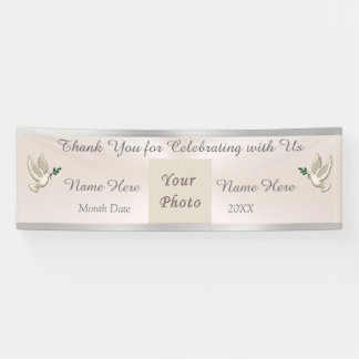 Blush Thank You Banner Wedding, Personalized