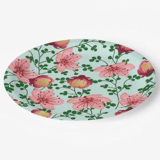Blush Vines Paper Plate