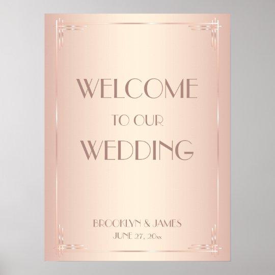 Blush Vintage Wedding Reception Sign Print