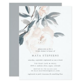 Blush Whisper Bridal Shower Invitation