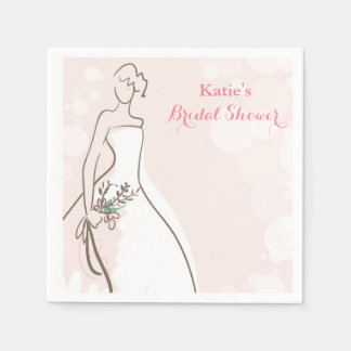 Blushing Bride Paper Napkins