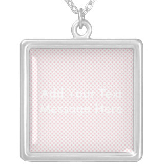 Blushing Bride Polka Dots Silver Plated Necklace