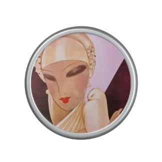 Blushing Bride Vintage Art Deco Illustration Bluetooth Speaker