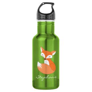 Blushing Fox with Custom Monogram
