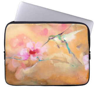 """""""Blushing"""" Hummingbird Print Laptop Sleeve"""