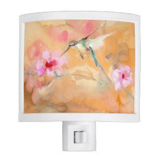 """""""Blushing"""" Hummingbird Print Night Lights"""