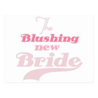 Blushing New Bride Postcard
