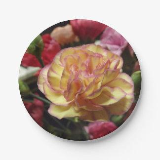 Blushing Petals Paper Plate