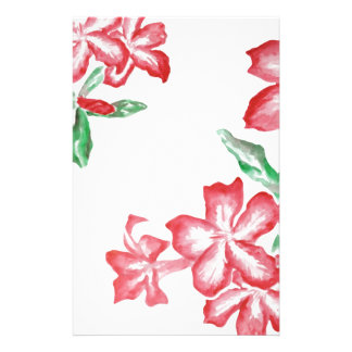 Blushing Red Flowers Stationery Design